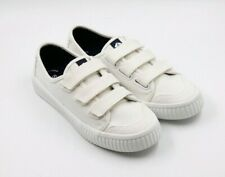 Womens Sperry Top Sider Creeper White Canvas Strap Sneaker Memory Foam Size 6.5