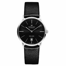 SALE Hamilton Intra-Matic Black Dial Leather Mens Watch H38455731