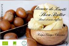 Beurre de Karité brut et non raffiné 100 %Bio