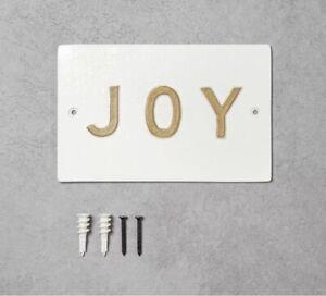 NEW Hearth & Hand With Magnolia Joy Metal Bathroom Wall Sign Decor Plaque