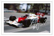 ALAIN PROST Signed Autograph PHOTO Fan Gift Print FORMULA ONE F1 McLaren