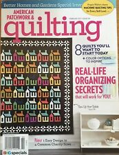 American Patchwork & Quilting Magazine Feb 2017 Real Life Organizing Secrets