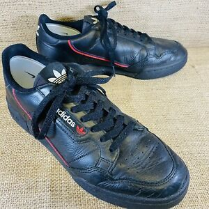 MENS ADIDAS ORIGINALS CONTINENTAL 80 LEATHER TRAINERS UK SIZE 9