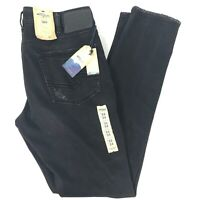 Silver Jeans Co Taavi Slim Fit Mens Distressed Black Jeans Size 33x34 NEW $99