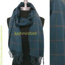 Men Women Winter Warm CASHMERE SCARF Scotland Wool Wrap Check Plaid Blue Coffee