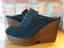 Robert Clergerie Mules Size  39.5 uk 6.5 Black Ladies Shoes High Heels Shoes New