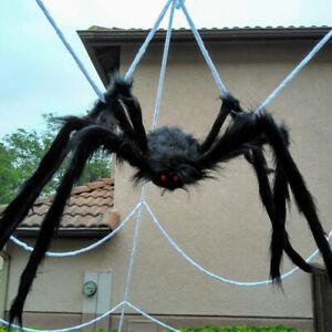 Giant Spider Halloween Decoration Haunted House Prop Indoor Outdoor Party Black