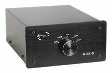 DYNAVOX Eingangs-Erweiterung/Umschalter AUX-S schwarz / 5 Eingänge RCA vergoldet
