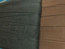 "Twill Tape Cotton 1"" Herringbone Ribbon Trim 3yds Made in Japan"