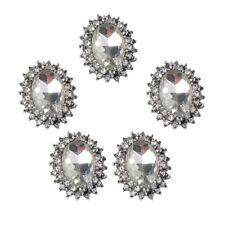 5 pulsanti ovali flatback cristallo per archi capelli fai da te con strass