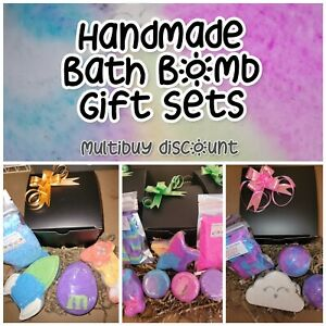 Various Bath Bomb Gift Set ~ Hand Made ~ Shapes, Bubble Dust, Crumble, Clouds