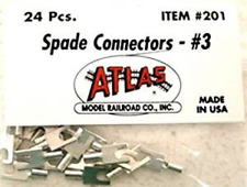 Atlas #201 Spade Connectors (#3) 24 pieces for HO & N Scales - Made in U.S.A.