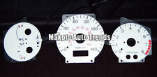 1993-2003 Mazda Protege 99-03 w/ Tach 6 Color Glow Gauge White Face