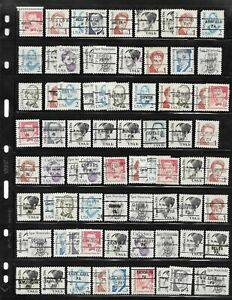 PA Precancels: Assorted Towns/Types; 1980s Great Americans Issue; 284 Different