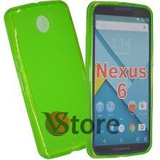 Cover Custodia Per Motorola NEXUS 6  Gel Silicone TPU Verde + Pellicola