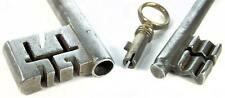Antique Georgian Safe Key & Victorian Bramah Key + Rim Key