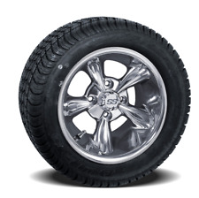 "Set Of 4 GTW 10"" God Father Golf Cart Wheels On Low Profile Tires Combo"