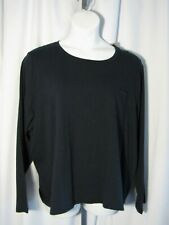 J. Crew 3X NWT Navy Blue Knit Shirt Top Long Sleeve Tee Plus Size NEW
