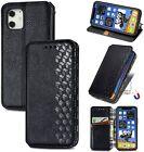 UEEBAI Case for iPhone 12 mini 5.4 inch, Luxury PU Leather TPU Bumper Case Black