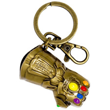 Official Marvel Avengers Thanos Infinity Gauntlet Coloured Pewter Keyring
