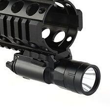 Tactical 500 Lumen LED Flashlight light picatinny Weaver rail fit for Gun Glock