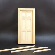 1:12 Scale Doll House Miniature Classical Furniture Wooden Door DIY Toy  New.