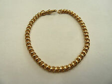 New 9ct Solid Yellow Gold Ladies Rollerball Bracelet 10.3 grams