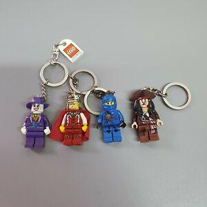 Lego Keyring Minifigure Bundle Jack Sparrow Ninjago Joker King