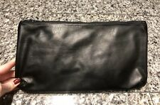 Black Leather Cosmetic Case Bag