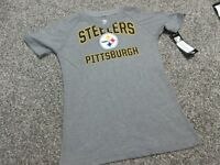 NEW Pittsburgh Steelers Youth Girls Graphic  50/50 T-Shirt Medium Size 10/12