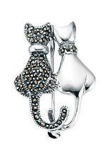 Echtschmuck-Broschen & -Anstecknadeln aus Sterlingsilber Markasit