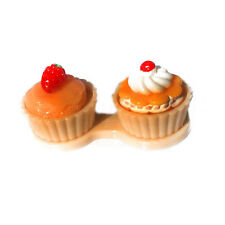 Cupcake Contact Lens Case Cute Travel Storage Soak Kit Hard Holder Container Box