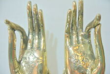 2 exquisite large brass Buddha Pull handle Finger door HAND 25cm hook polished B
