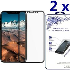 2-Pack For iPhone X Full Cover Tempered Glass Screen Protector -Black