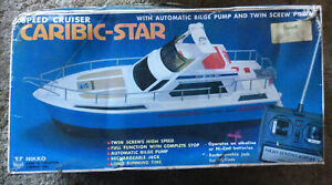 NEW Nikko RC Hochsee Yacht CARIBIC-STAR COMPLETE Mint Condition RETRO 1981 Boat
