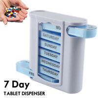 7 Day Week Daily Pill Box Organiser Medicine Tablet Storage holder Dispenser UK