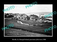OLD LARGE HISTORIC PHOTO OF MOVILLE DONEGAL IRELAND, PANORAMA OF THE TOWN c1900