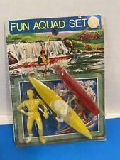 Vtg Aquad Set Water Water Rafting Figure Kayak