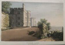 1825 ANTIQUE PRINT; Dunster Castle, Somerset après Ackermann