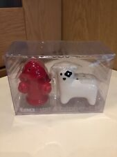 Tag. Salt & Peper Set. Dog And Fire Hydrant. New In Box.