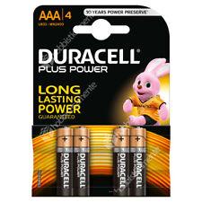 4 PILE MINI STILO AAA DURACELL PLUS POWER 1,5 V BATTERIA ALCALINA MICRO DURALOCK