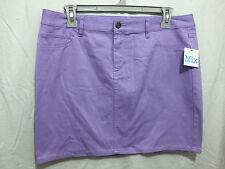BNWT Ladies Sz 16 Mix Brand Pretty Lavender Soft Stretch Summer Mini Skirt