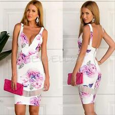 Sexy Women Bodycon Bandage Evening Party Cocktail Pencil Mini Short Dress Summer