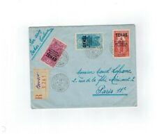 LETTRE TCHAD 3F, 1,50F, 90C, SURCHARGE AFRIQUE EQUATORIALE FRANCAISE 1930 PARIS