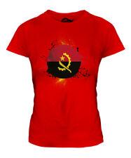 Angola fútbol Señoras Camiseta Camiseta Top Copa Mundial de regalo Sport