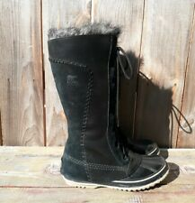 SOREL CATE THE GREAT BLACK/LEATHER SUEDE WINTER BOOT WOMEN'S sz 7