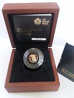 2013 Queen Elizabeth II Proof Gold Quarter Sovereign + Walnut Case COA