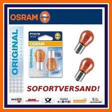 2X OSRAM Original Line PY21W BLINKER HINTEN Blinkerbirne AUDI A6 A8 Q3 Q5 Q7