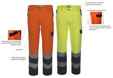 ROSSINI LUCENTEX Pantalone BICOLORE Alta Visibilità da Lavoro Uomo Bande A00130