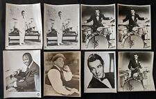 Vintage 1940-50s American Jazz Greats Fats Waller Gene Krupa Photo Lot (8pcs) BB